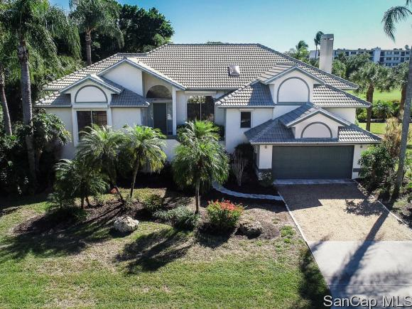 This bright and beautiful home is a daydream for any golf lover. Located at 1217 Par View Drive, the 2,087 square foot house is situated right near the 17th hole of the Sanibel Island Golf Club.