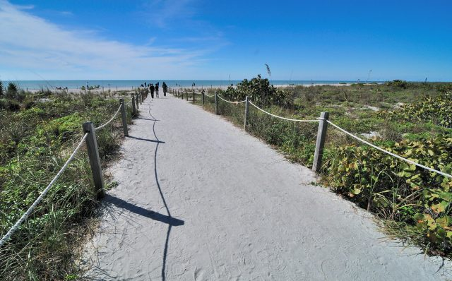 Bowman's Beach path in Sanibel Florida