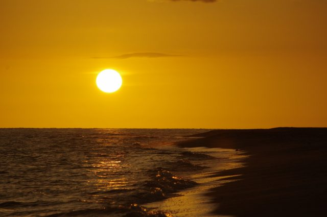 Sunset over Bowman's beach in Sanibel Island