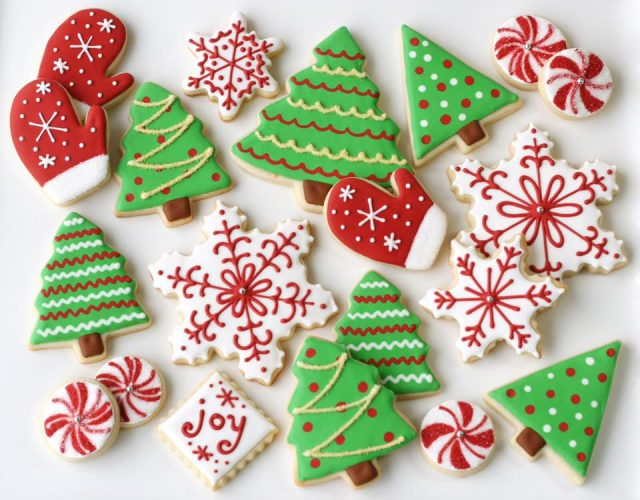 Christmas decorated cookies from workshop