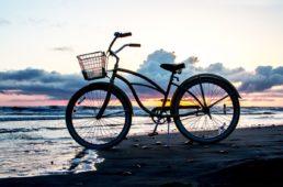 bike by ocean