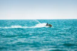 jet ski in the ocean