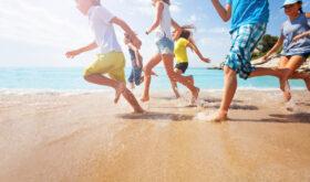 Kids playing on Sanibel island