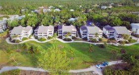 aerial view of sanibel island condos for sale
